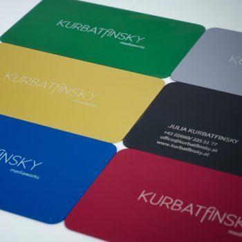 Aluminum business cards woohee